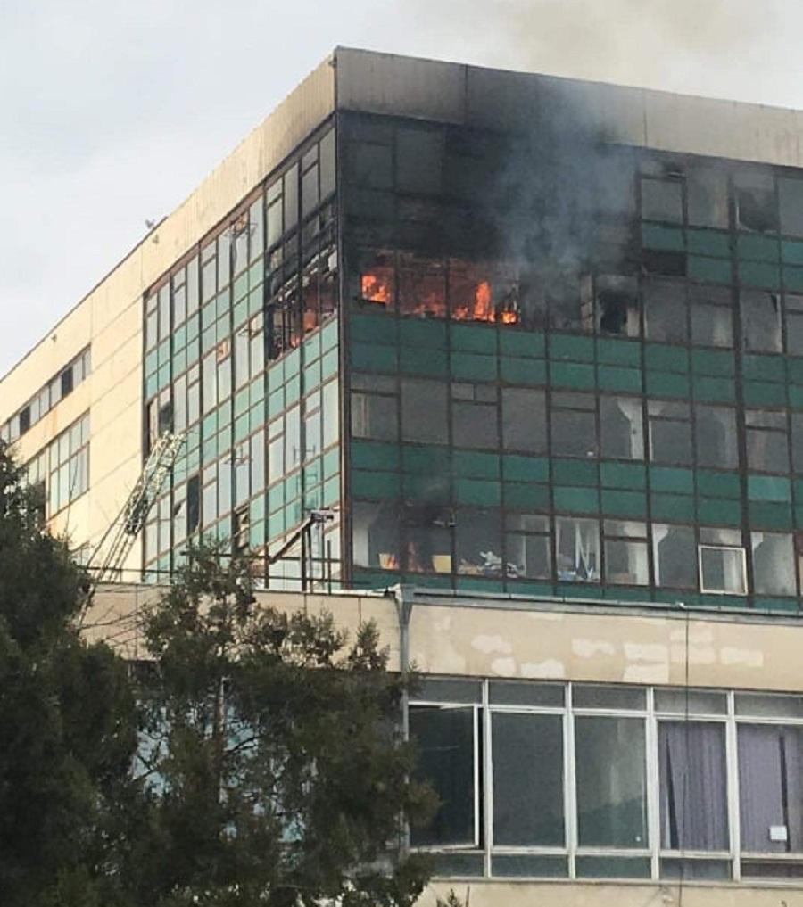 """""""მიონის"""" შენობაში ხანძარს 1 ადამიანი ემსხვერპლა"""