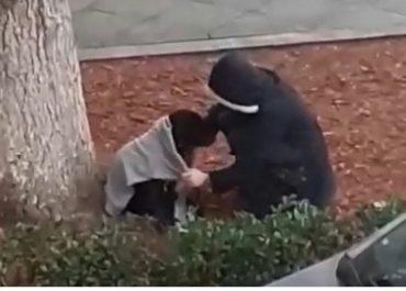 (ვიდეო) - ბავშვმა წვიმაში დარჩენილ ძაღლს სვიტერი დაუთმო