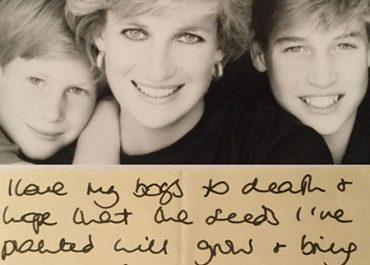 """""""სიკვდილამდე მიყვარს ჩემი ბიჭები"""" - პრინცესა დაიანას დღემდე უცნობი წერილი შვილებს"""