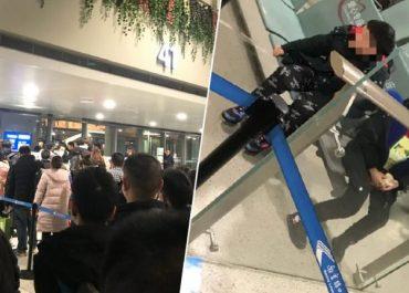 კორონავირუსის გამო, მშობლებმა შვილები აეროპორტში მიატოვეს