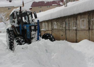 ხულოში თოვლის საფარმა ერთ მეტრს მიაღწია