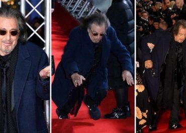 ალ პაჩინო BAFTA-ს დაჯილდოების ცერემონიალზე, წითელ ხალიჩაზე წაიქცა!