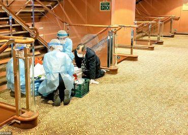 იაპონიაში საკრუიზო გემზე 10 ადამიანი კორონავირუსით ინფიცირებული აღმოჩნდა