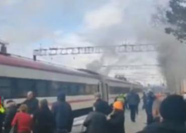 ზუგდიდი-თბილისის სამგზავრო მატარებელს ცეცხლი გაუჩნდა