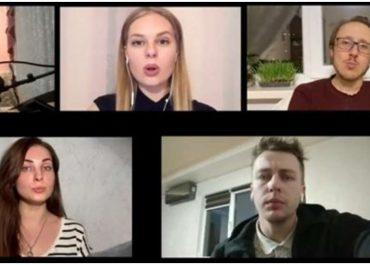 """კიევის ნაციონალური აკადემიური ოპერეტის თეატრის მომღერლებმა კარანტინში """"სულიკო"""" შეასრულეს. ვიდეო"""