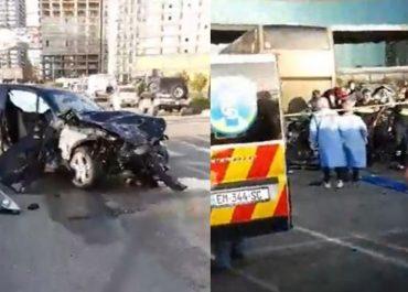 4 მანქანა ერთმანეთს შეეჯახა - შემზარავი ავარია  ბათუმში