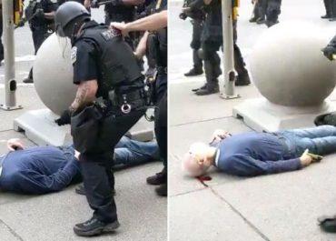კიდევ ერთი სკანდალური ვიდეო - 75 წლის მოხუცს პოლიციელი სასტიკად გაუსწორდა (აშშ)