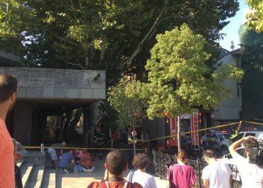 (ვიდეო) - აფეთქებას ფილარმონიასთან მსხვერპლი მოჰყვა – კადრები შემთხვევის ადგილიდან
