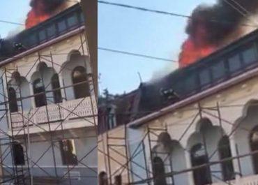 (ვიდეო) - თბილისში სასტუმრო იწვის
