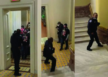 """(ვიდეო) - ერთი პოლიციელი კონგრესის კართან - """"კარგი, ის კარი, ჯანდაბას, მე გავაღე და ეს?"""""""