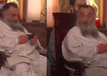 (ვიდეო) - მეუფე ნიკოლოზის შობის ღამე საყვარელ ტელეფონთან ერთად